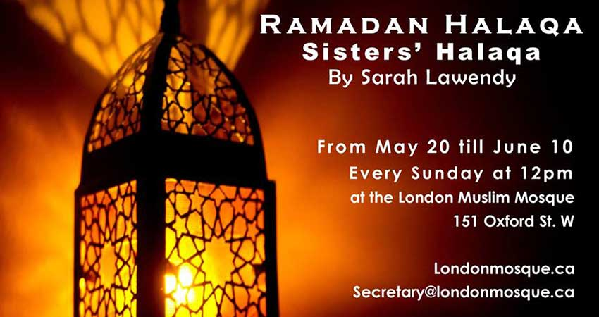 Ramadan Sisters Sunday Halaqa with Sarah Lawendy