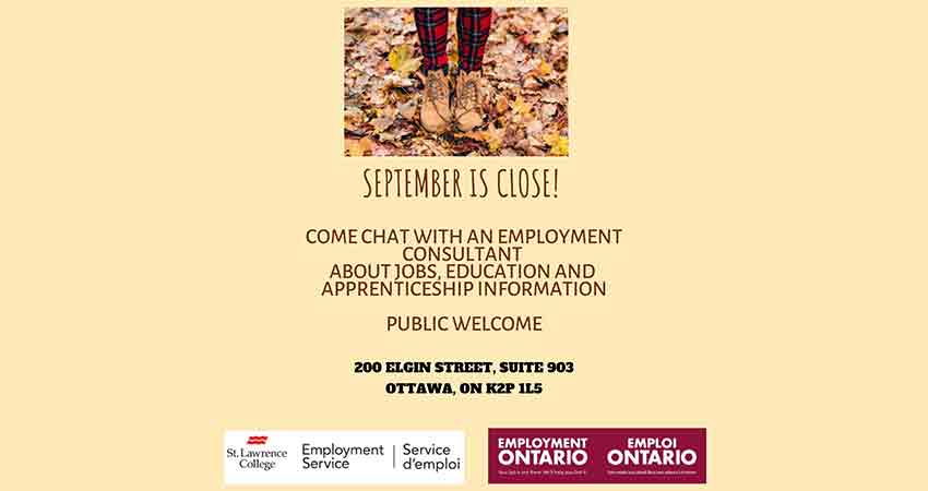 Chat with an Employment Consultant at St. Lawrence College Employment Service Centre