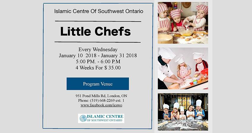 Little Chefs Program Starts January 10 2018