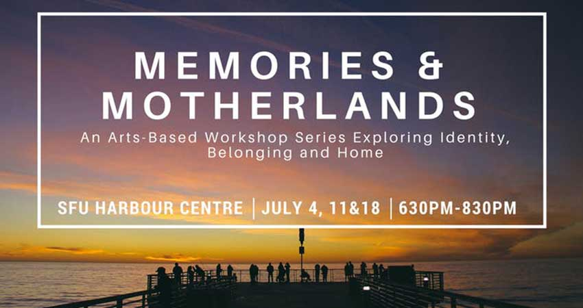Centre for Comparative Muslim Studies Memories and Motherlands: Free Youth Workshops