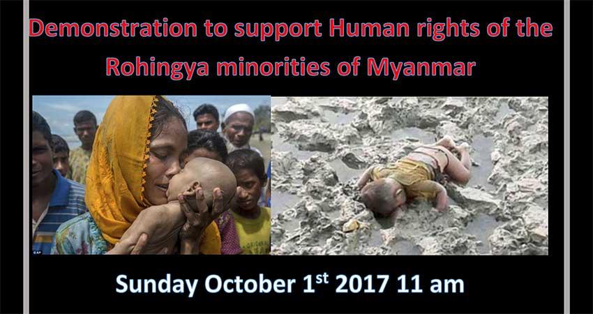 Demonstration to Support Human Rights of the Rohingya Minorities