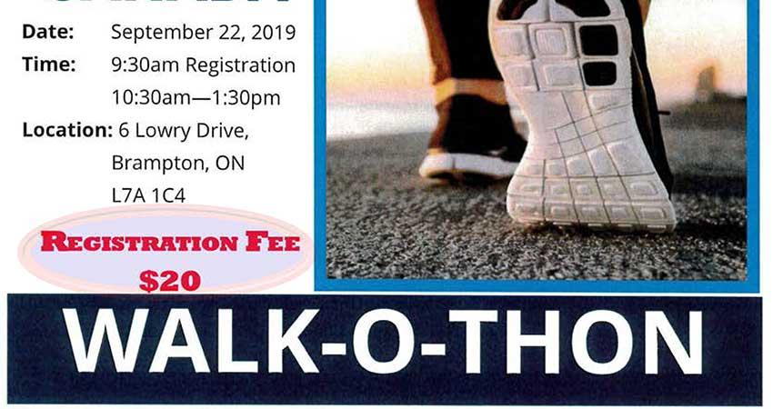 Brampton Islamic Centre Diabetes Canada Walk-o-thon