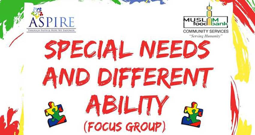 ASPIRE Special Needs and Different Ability Focus Group