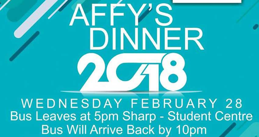MSA UOIT-DC Affy's Dinner 2018: Winter Social