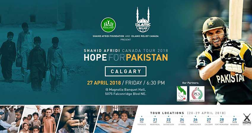 Islamic Relief Canada Shahid Afridi in Calgary · Hope for Pakistan Fundraising Tour