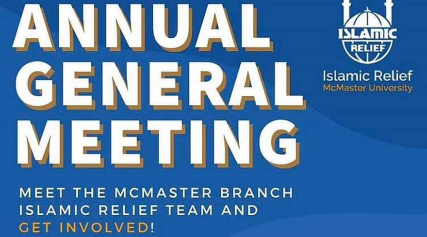 ONLINE Islamic Relief at McMaster Annual General Meeting