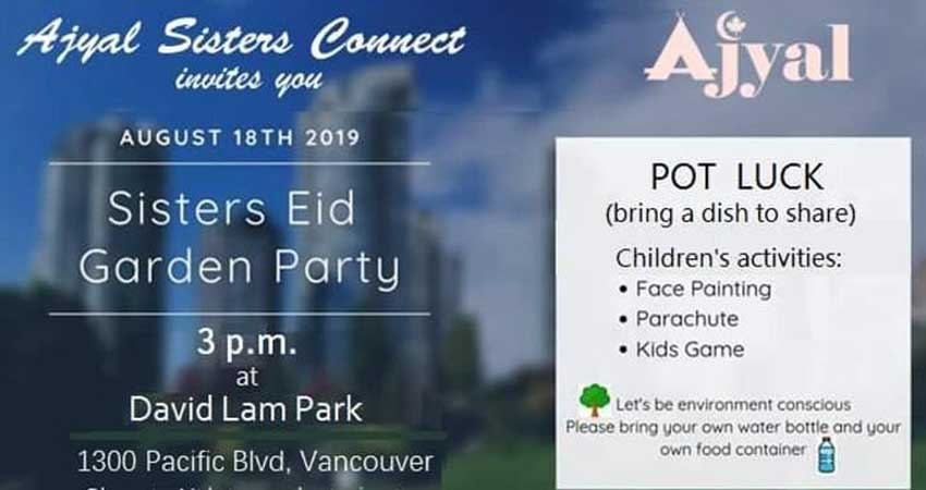Ajyal Islamic Centre Sisters Eid Garden Party Potluck