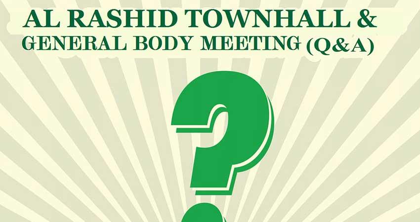 Al Rashid Townhall & General Body Meeting