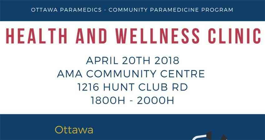 Ottawa Paramedic Health and Wellness Clinic