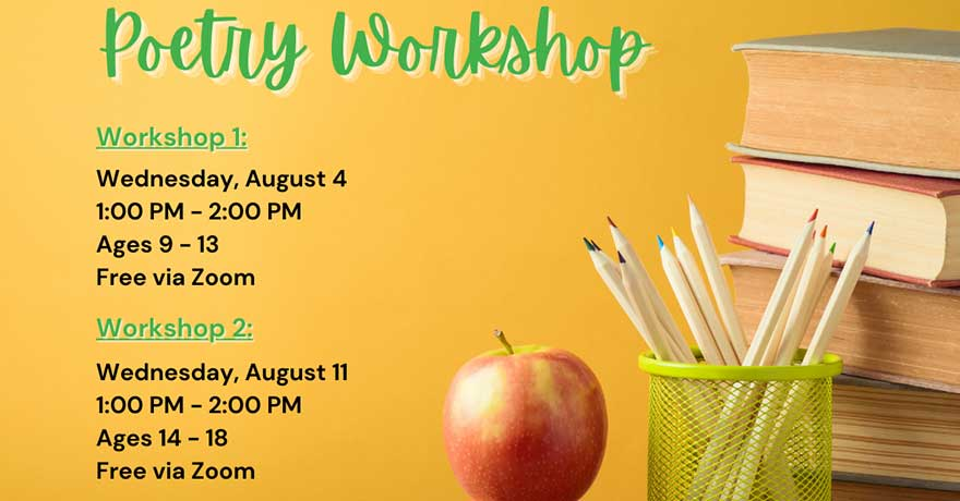 Assunnah Muslim Association Youth Poetry Workshop (Ages 14 to 18) Registration Required