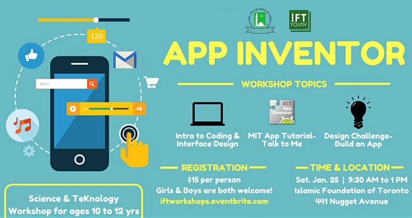 Islamic Foundation of Toronto App Inventor (Ages 10 to 12)