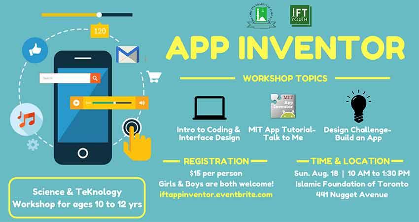 Islamic Foundation of Toronto App Inventor- Kids Workshop