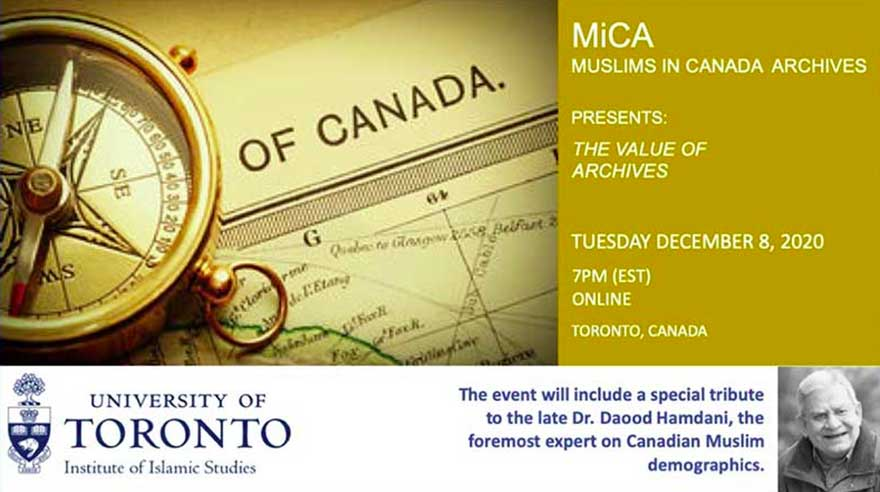 ONLINE University of Toronto Institute of Islamic Studies (IIS) Muslims in Canada Archives Launch