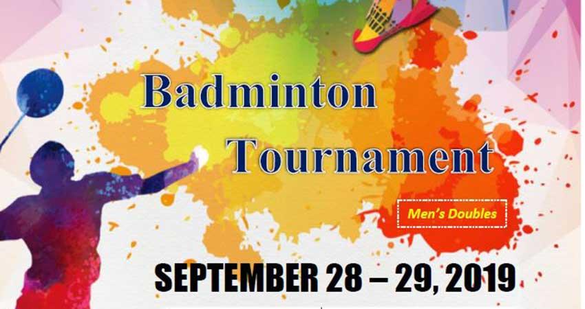 Muslim Coordinating Council Men's Badminton Tournament Registration Deadline Sept. 21