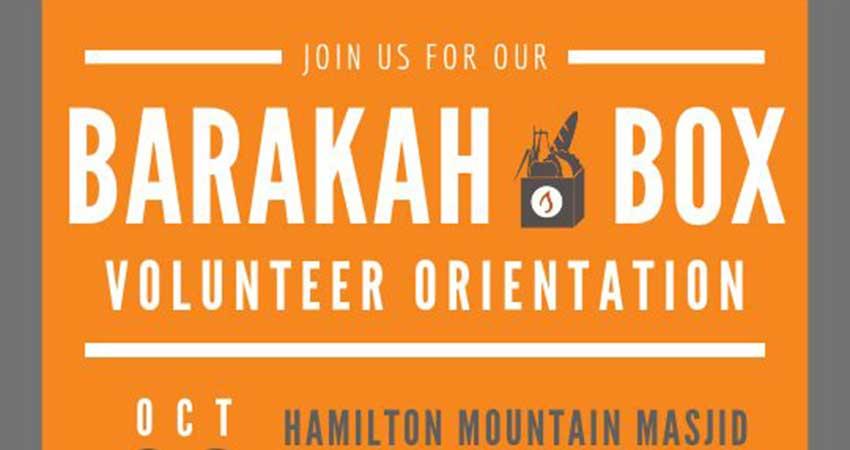 Mishka Social Services Barakah Box Volunteer Orientation