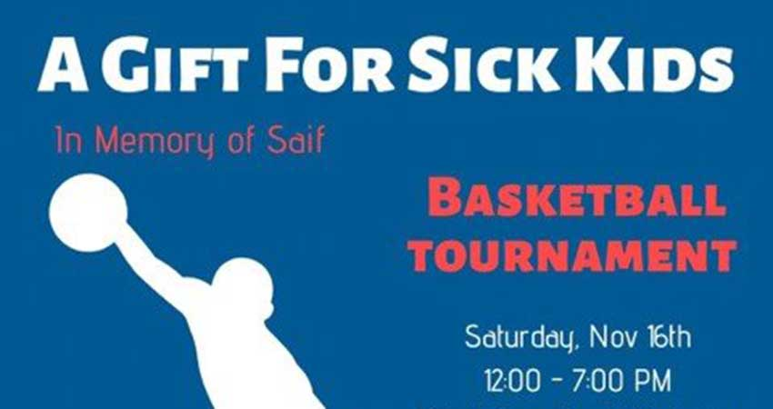 University of Waterloo Muslim Students' Association A Gift for Sick Kids Basketball Tournament