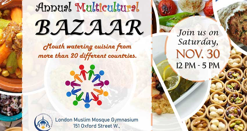 London Muslim Mosque Annual Multicultural Bazaar