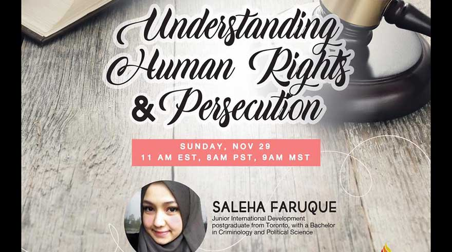 ONLINE Being ME Muslimah Empowered Understanding Human Rights and Persecution