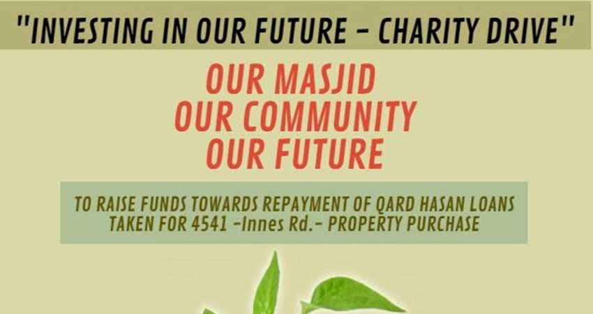 Masjid Bilal Investing in our Future Charity Drive