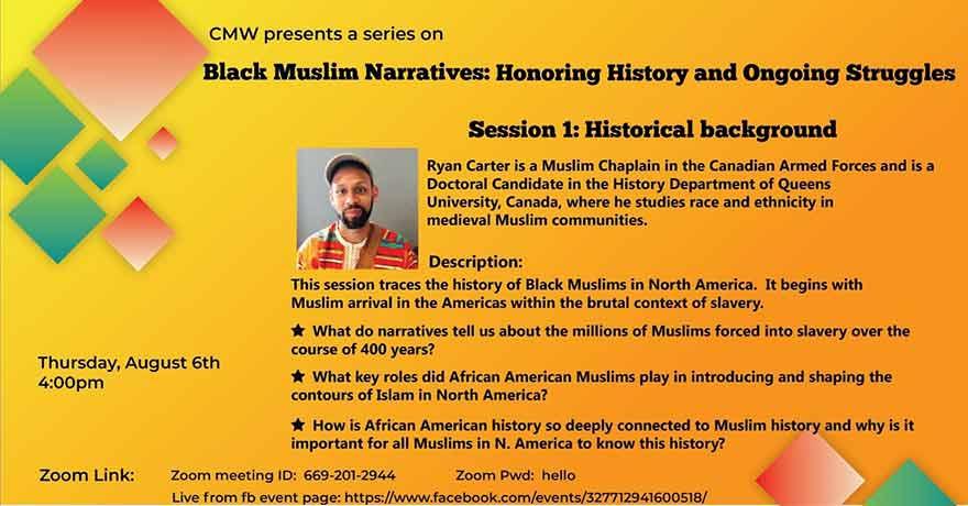 ONLINE Council of Muslim Women of KW Black Muslim Narratives