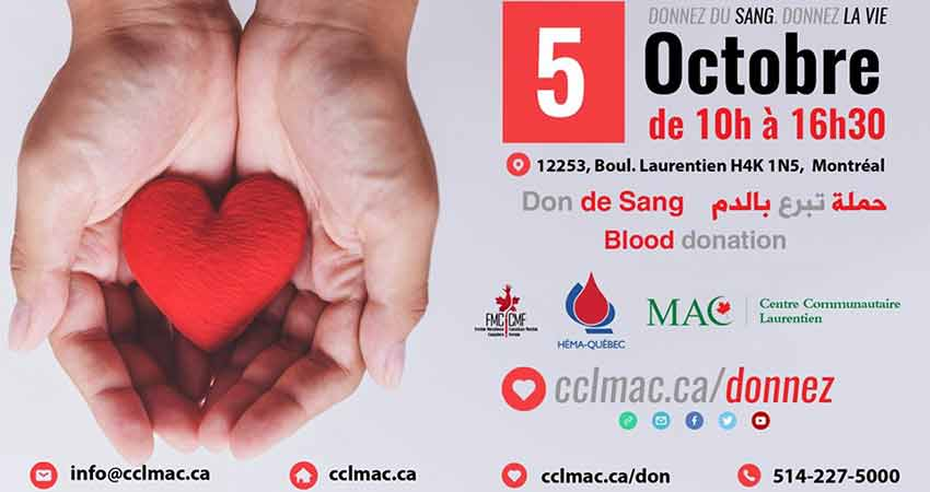 Muslim Association Of Canada (MAC)  Don de Sang Blood Donation Clinic