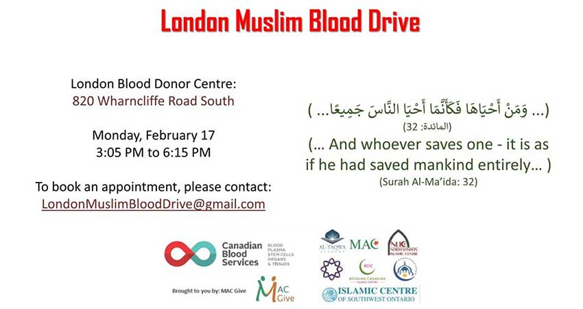 London Muslim Community Blood Drive