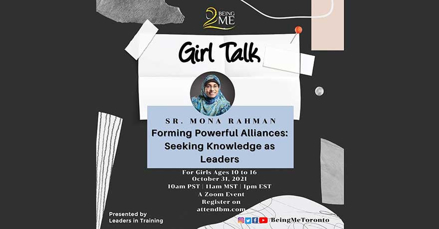 Being Me Muslimah Empowered Girl Talk Forming Powerful Alliances (Girls Ages 10 to 16)
