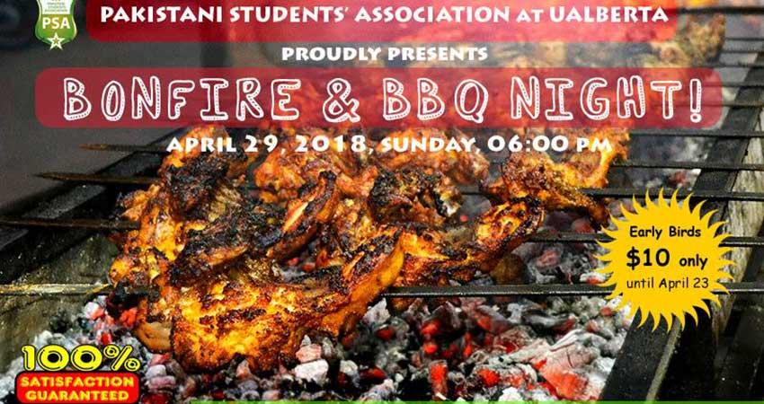Pakistani Students' Association - University of Alberta.Bonfire and Desi BBQ