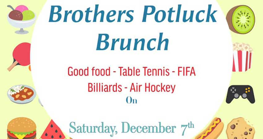 The Canadian Institute of Islamic Civilization Brothers Potluck Brunch