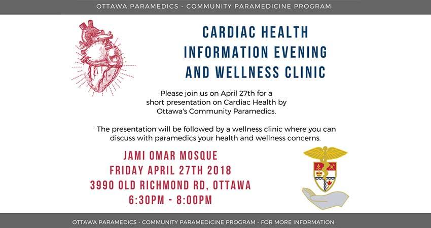Jami Omar Cardiac Health Information Evening and Wellness Clinic