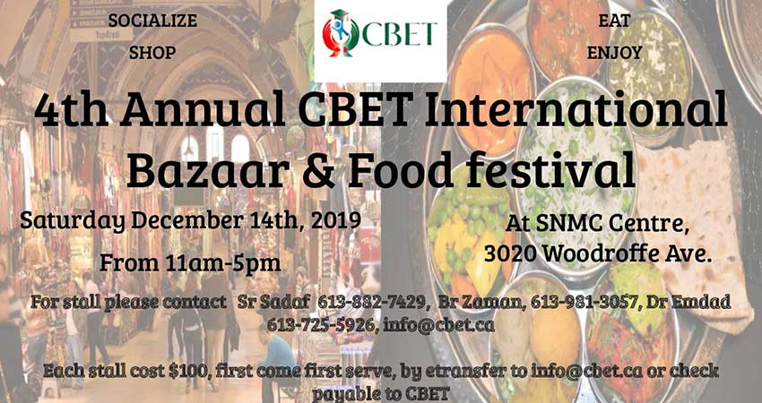 Canada Bangladesh Education Trust (CBET) Bazaar and Food Festival