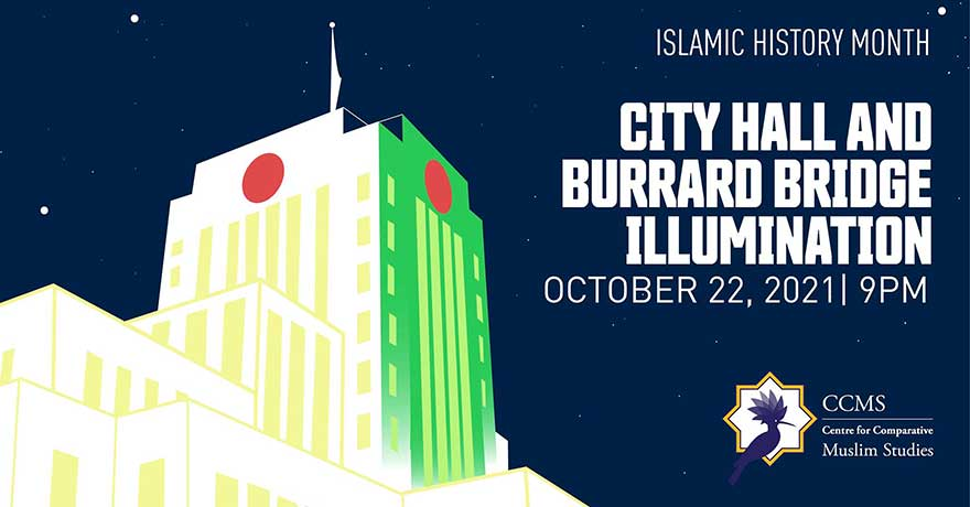 Illuminating Vancouver City Hall for Islamic History Month