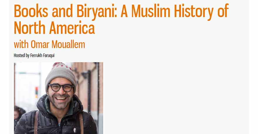 Canadian Council of Muslim Women (CCMW) Books and Biryani: A Muslim History of North America with Omar Mouallem