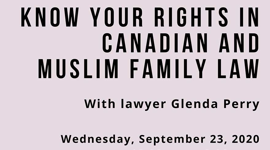 ONLINE Canadian Council for Muslim Women Know Your Rights Canadian Muslim and Family Law