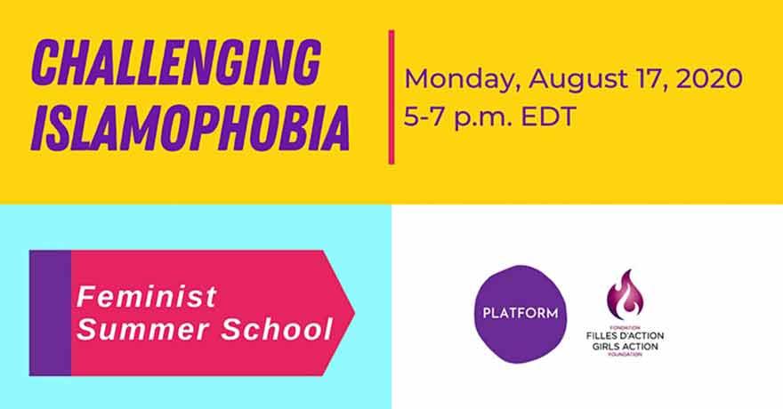 ONLINE Platform Feminist Summer School Challenging Islamophobia