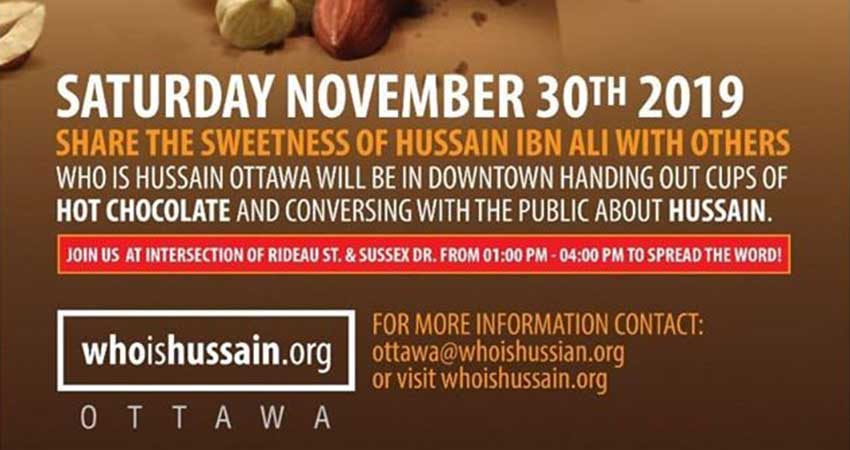 Who is Hussain? Ottawa Chapter Free Hot Chocolate Distribution
