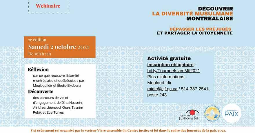 Centre justice et foi Découvrir la diversité musulmane montréalaise