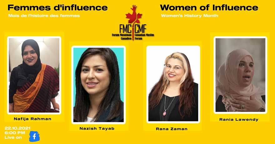 Canadian Muslim Forum Women of Influence 2021