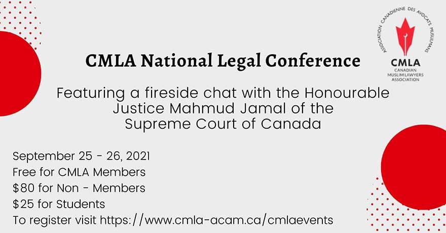 Canadian Muslim Lawyers Association (CMLA) Conference