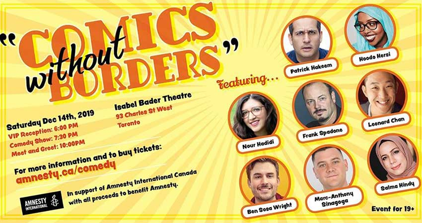 Comics Without Borders Fundraiser for Amnesty International Canada