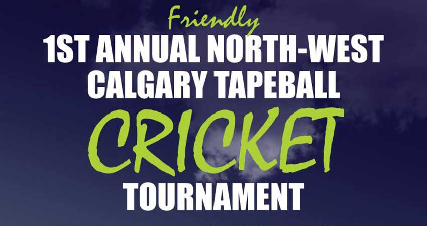 First Annual NW Calgary Friendly Tapeball Cricket Tournament