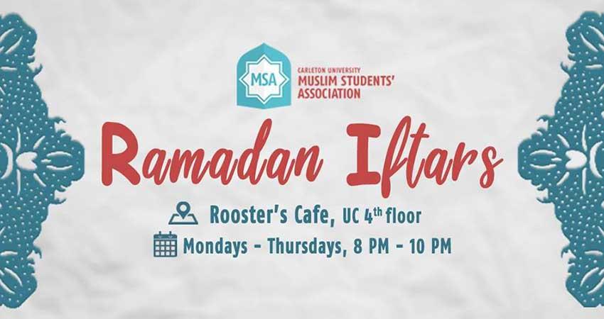 Carleton University Muslim Students Association CUMSA Ramadan Iftars