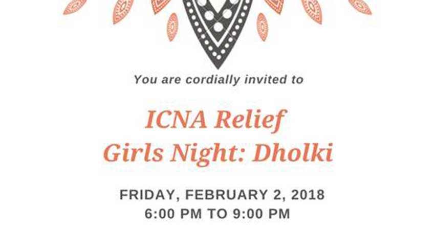 ICNA Relief Girls Night: Dholki