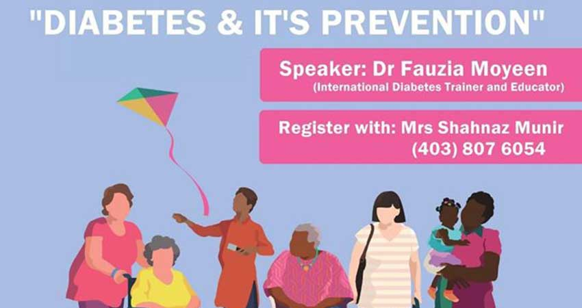 Pakistan Canada Association Calgary Diabetes and Its Prevention