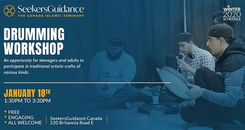 Seekers Guidance Canada Drumming Workshop with Br. Nader Khan