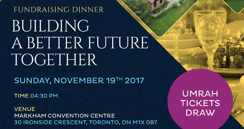 Building A Better Future Together Durham Islamic Centre Fundraising Dinner