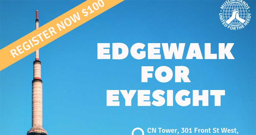 Muslim Hands Edgewalk For Eyesight