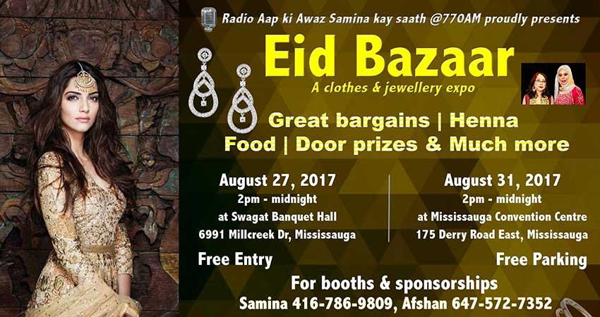 EID Bazaar on Aug 27 & Aug 31