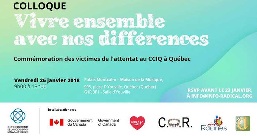 Rassembler la communauté québécoise pour honorer la mémoire des victimes de l'attentat au Centre culturel islamique de Québec