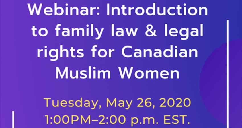 ONLINE CCMW Introduction to Family Law and Legal Rights for Canadian Muslim Women